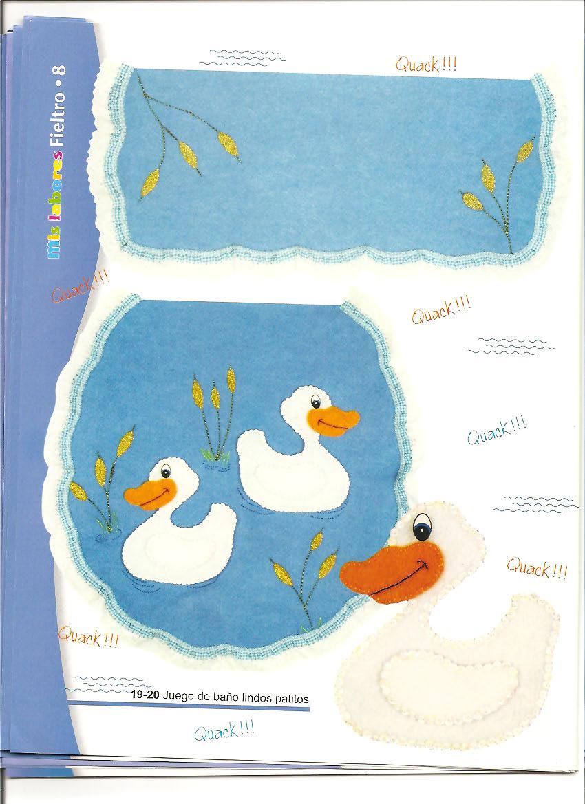 Imagenes De Juegos De Baño Fieltro:FIELTRO: bolsas de betty, dulceros de cenicienta, juegos de baño