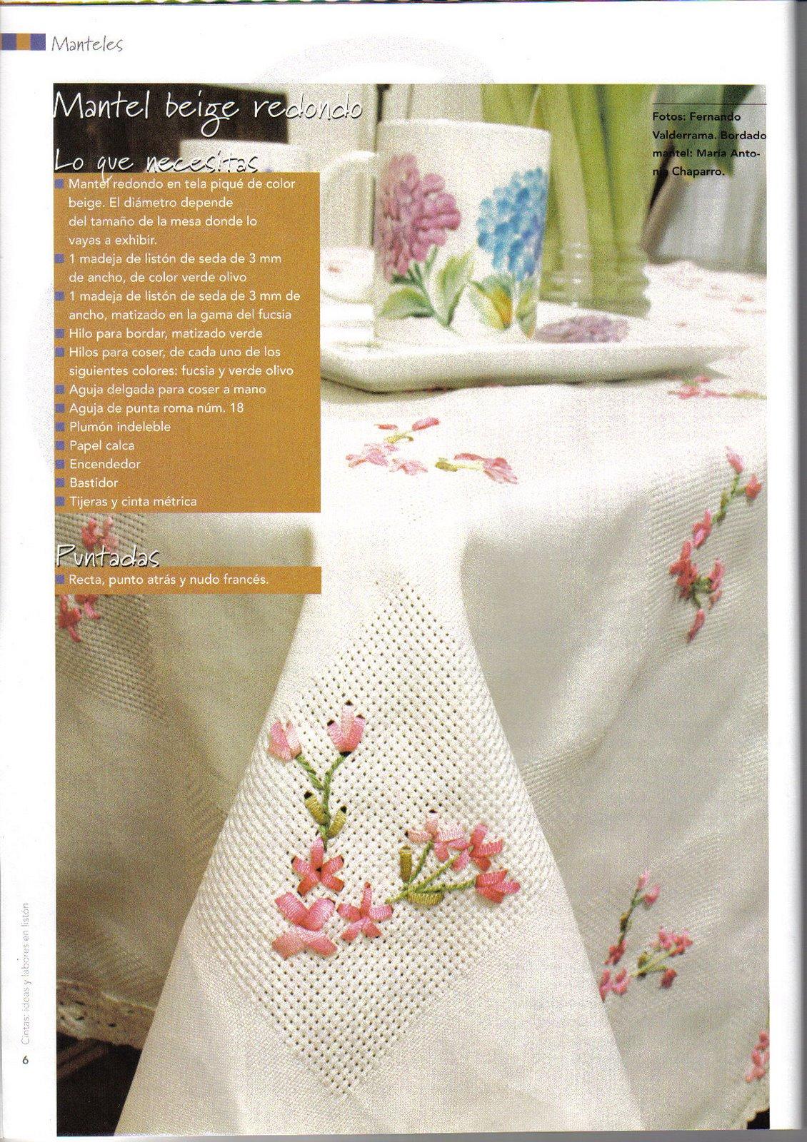 Patrones De Crochet Para Manteles