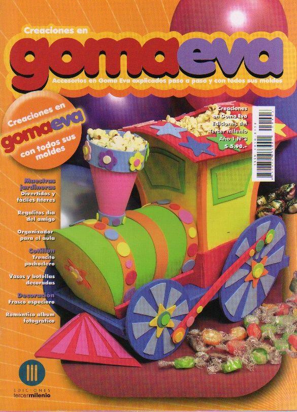 GOMA EVA: divertidos títeres, organizador para el aula, un tren de ...
