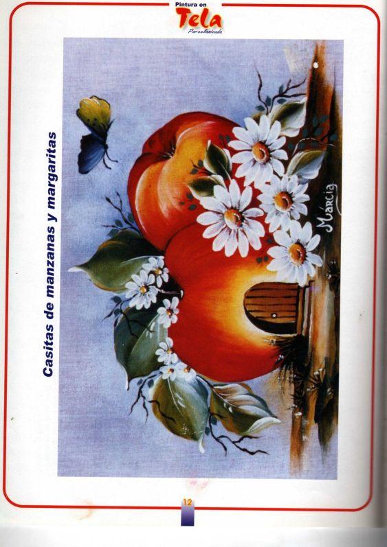 Pintura sobre tela infancia frutas paisajes variasmanualidades 39 s blog - Dibujos para pintar en tela ...