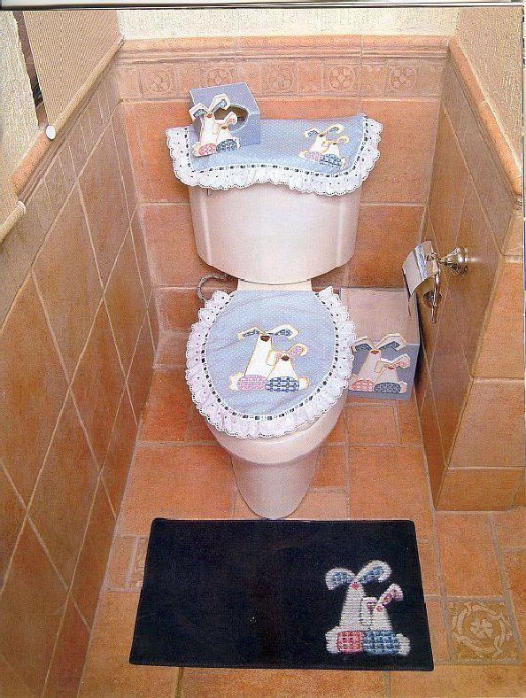 Decoracion de baño en tela ~ dikidu.com
