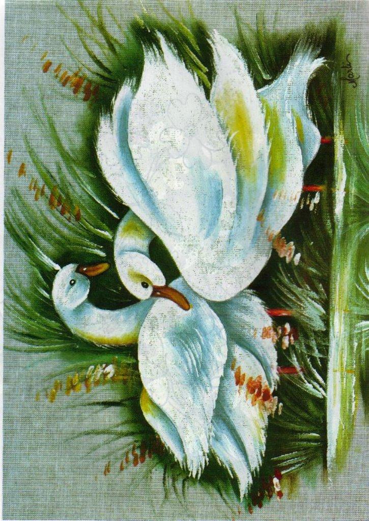 Dibujos de paisajes para pintar en tela imagui - Pintura en tela motivos navidenos ...