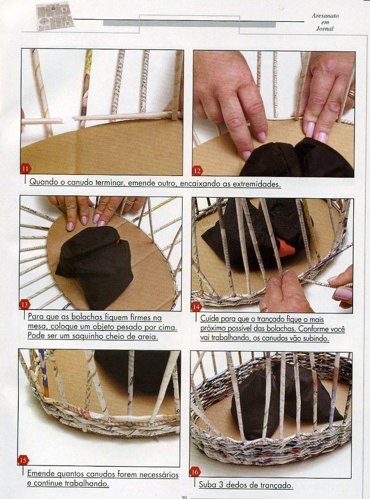 Arte con papel cester a variasmanualidades 39 s blog - Manualidades con papel periodico paso a paso ...