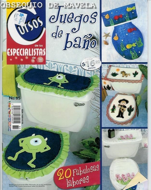 Juegos De Baño Infantiles:JUEGOS DE BAÑO: con fieltro, de tela , bordados…20 fabulosas