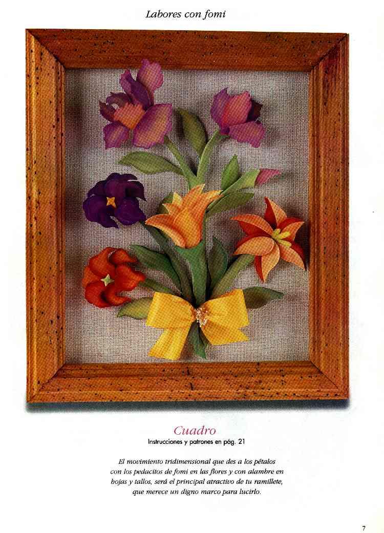 Foamy juego para cocina con flores matizadas originales - Ideas para hacer cuadros originales ...