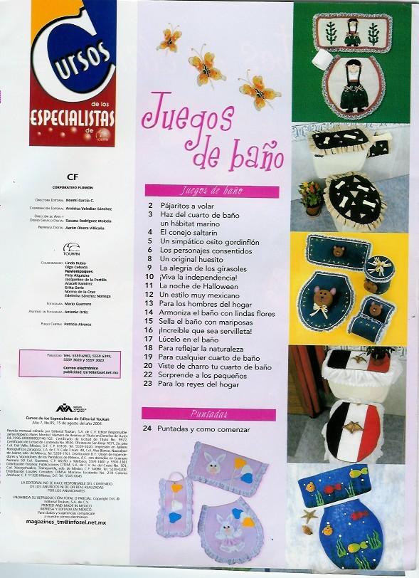 Juegos De Baño Halloween En Fieltro:JUEGOS DE BAÑO: con fieltro, de tela , bordados…20 fabulosas