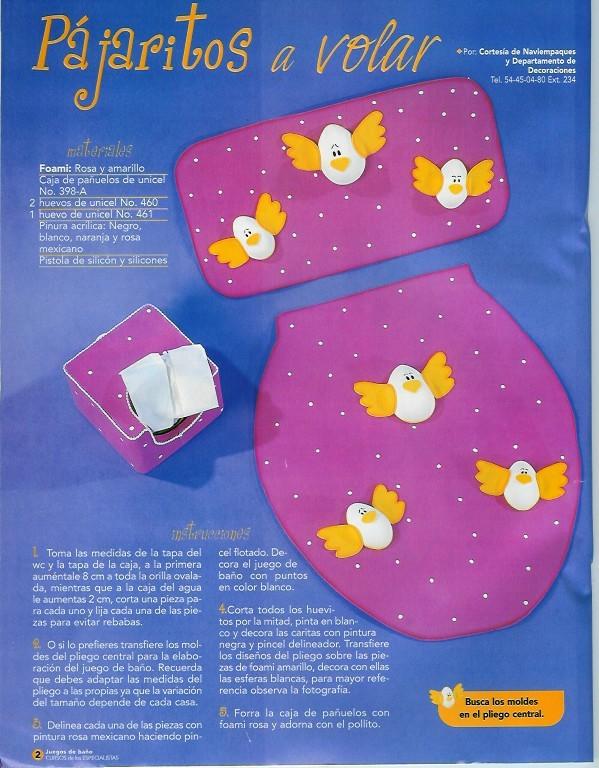 Juegos De Baño De Fieltro Para Primavera:JUEGOS DE BAÑO: con fieltro, de tela , bordados…20 fabulosas