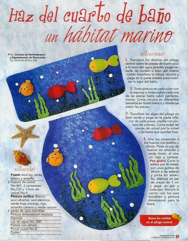 Juegos De Baño Finos:JUEGOS DE BAÑO: con fieltro, de tela , bordados…20 fabulosas