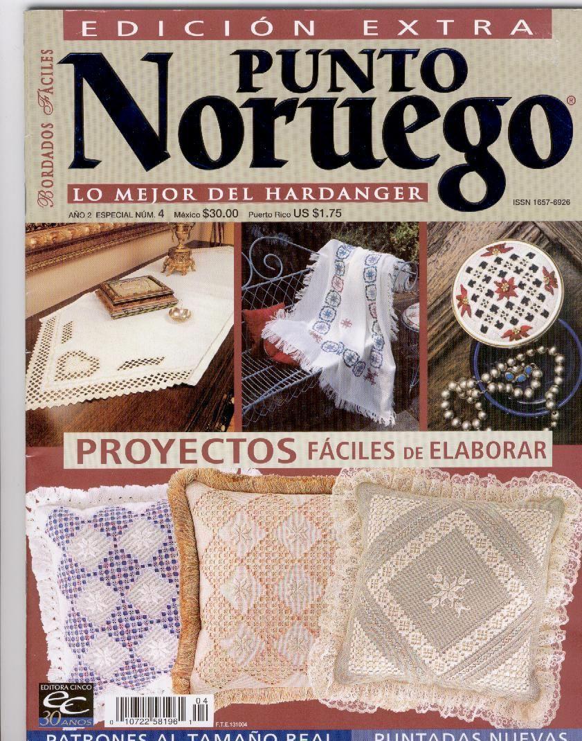 BORDADO NORUEGO: lo mejor de hardanjer; proyectos fáciles de hacer ...