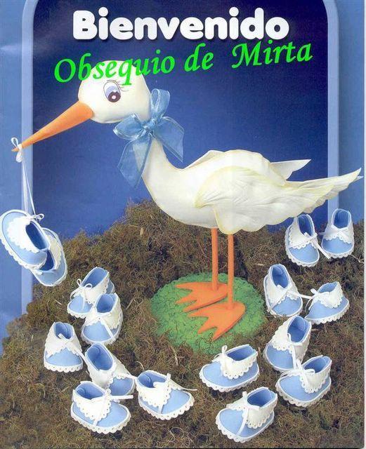Moldes para escarpines de goma eva - Imagui