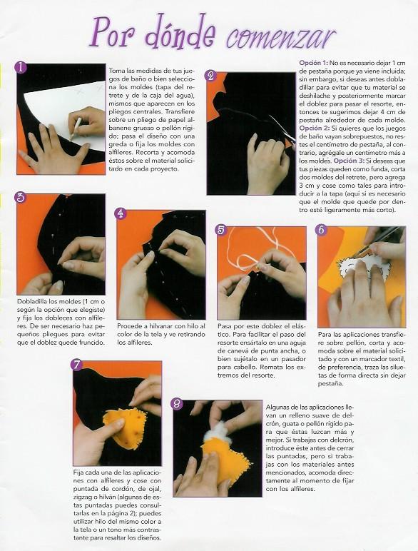 juegos de bao con fieltro de tela bordadosu fabulosas labores blog