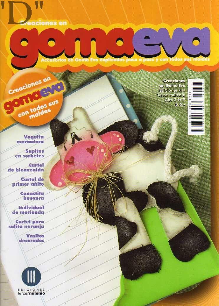 GOMA EVA O FOAMY: vaquita marcadora, cartel de bienvenida ...