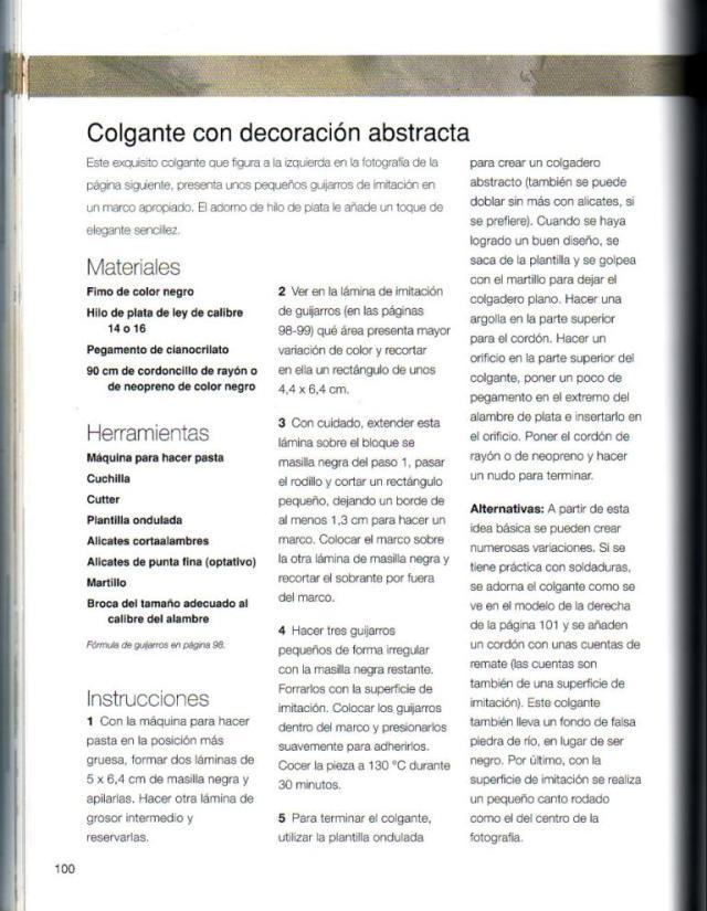 Imitar materiales decorativos con fimo ed. drac pag.100