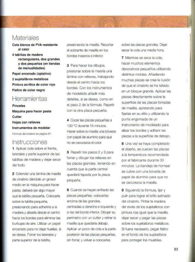 Imitar materiales decorativos con fimo ed. drac pag.83