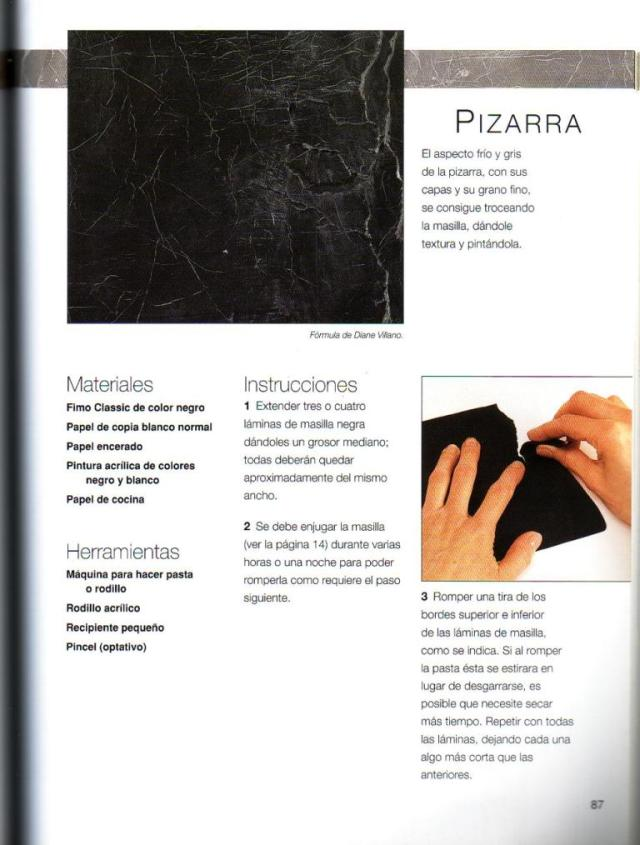 Imitar materiales decorativos con fimo ed. drac pag.87
