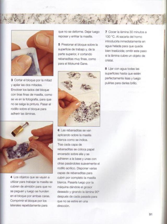 Imitar materiales decorativos con fimo ed. drac pag.91