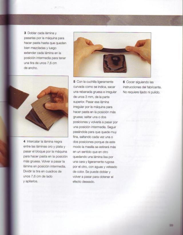 Imitar materiales decorativos con fimo ed. drac pag.99