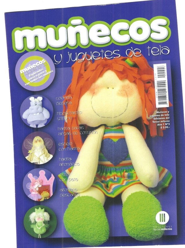 Muñecos y Juguetes de Tela Nº 2 tapa 001