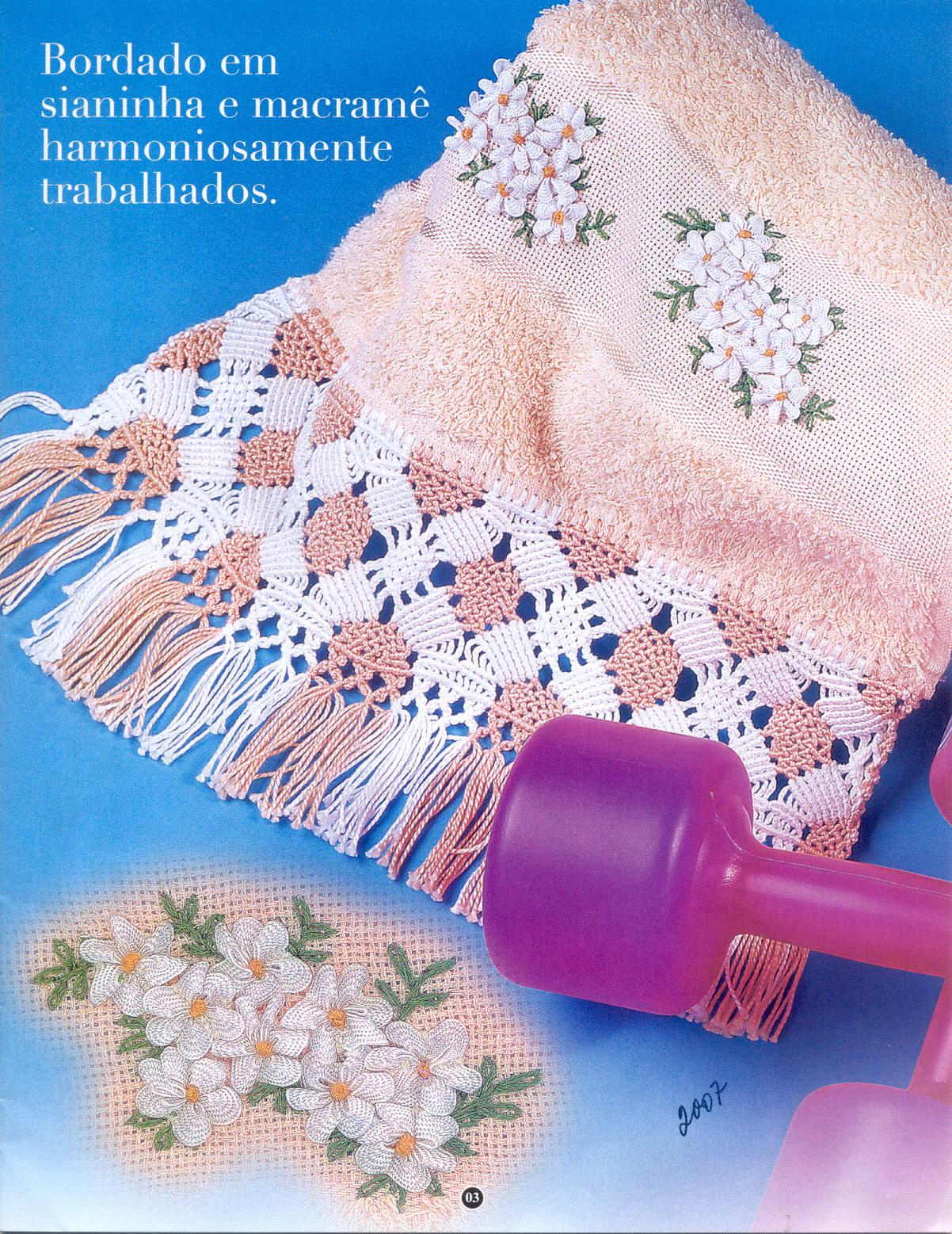 MACRAMÉ: decorar toallas con esta técnica « Variasmanualidades\'s Blog