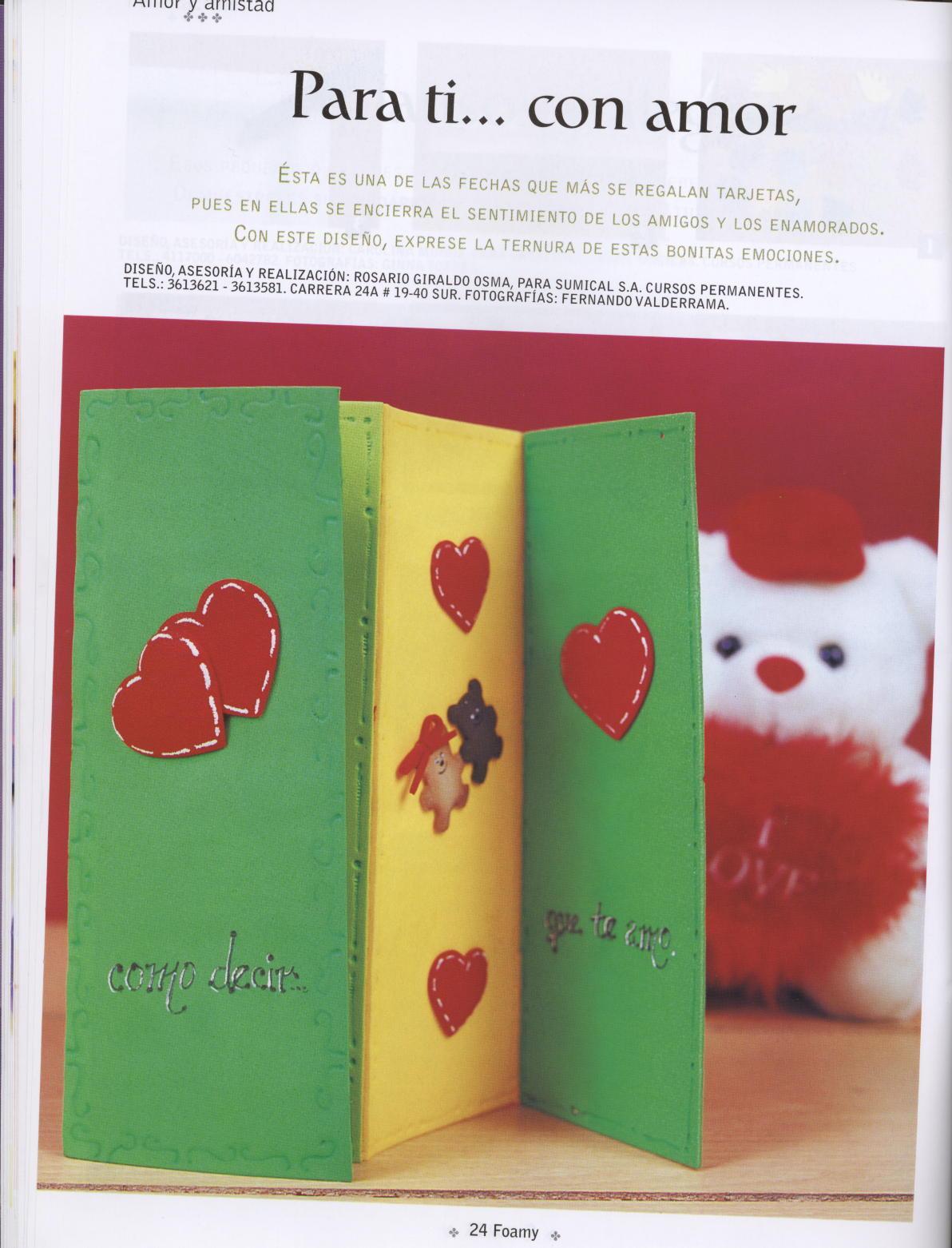FOAMY O GOMA EVA: tarjetas hechas con amor para el día de la madre ...