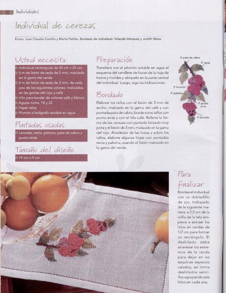 BORDADOS CON CINTAS: especial frutas y verduras ...