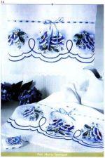3 toalla con flores