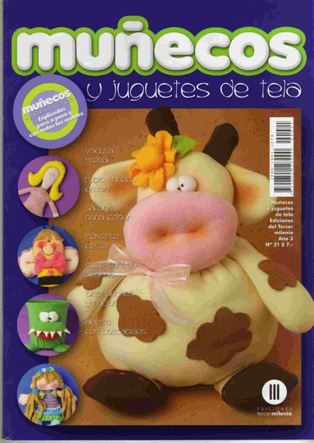 MUÑECOS Y JUGUETES DE TELA: un devorador de basura, una vaquita muy ...