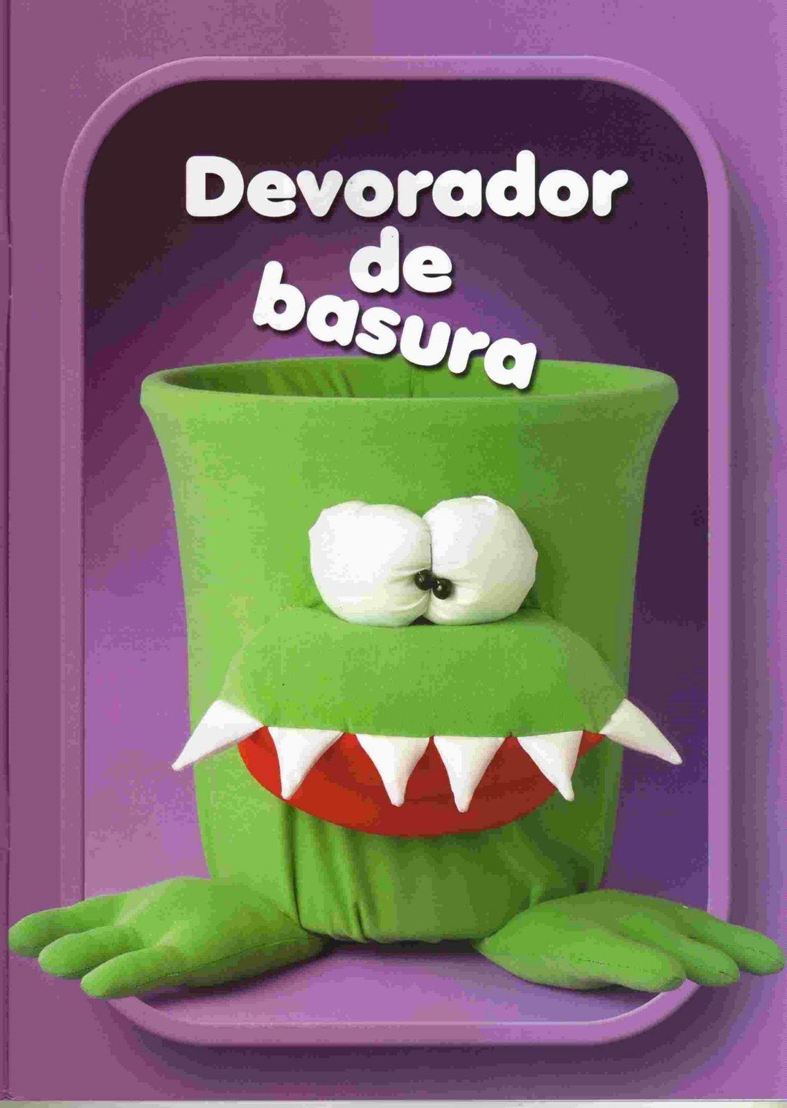 Mu ecos y juguetes de tela un devorador de basura una - Telas con dibujos infantiles ...