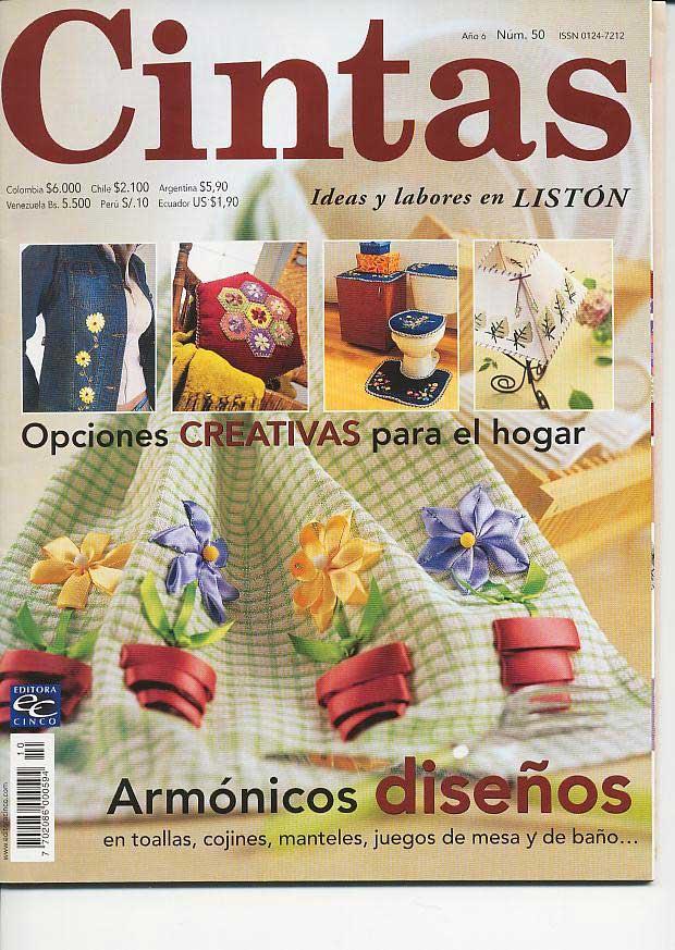 BORDADO CON CINTA: Diseños para manteles, cojines, juegos de mesa y ...