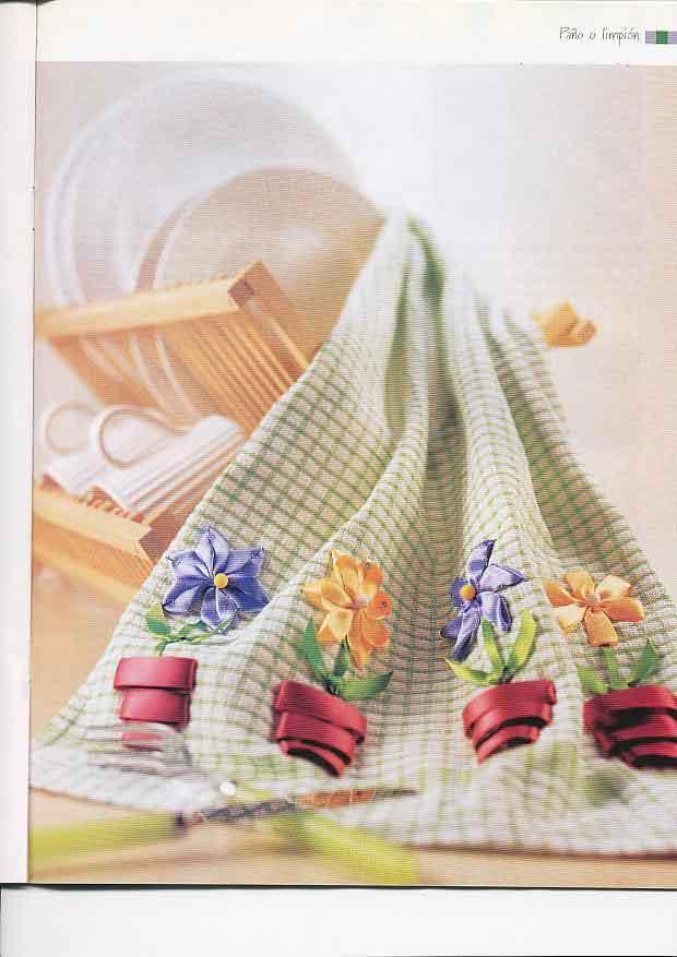 Revista Tus Manos Lenceria De Baño: Diseños para manteles, cojines, juegos de mesa y de baño, blusas