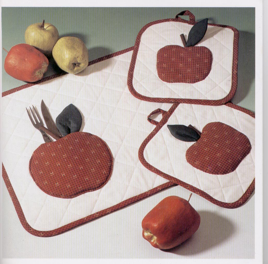 MANUALIDADES CON TELAS: Aplicaciones con tela para decorar la cocina