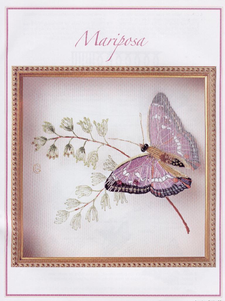 BORDADO CON CINTAS: Mariposas, escarabajos, gallinas y pájaros ...