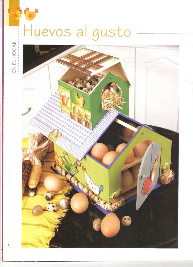 Servilletas decora una casa para guardar los huevos un for Casitas de madera para guardar cosas