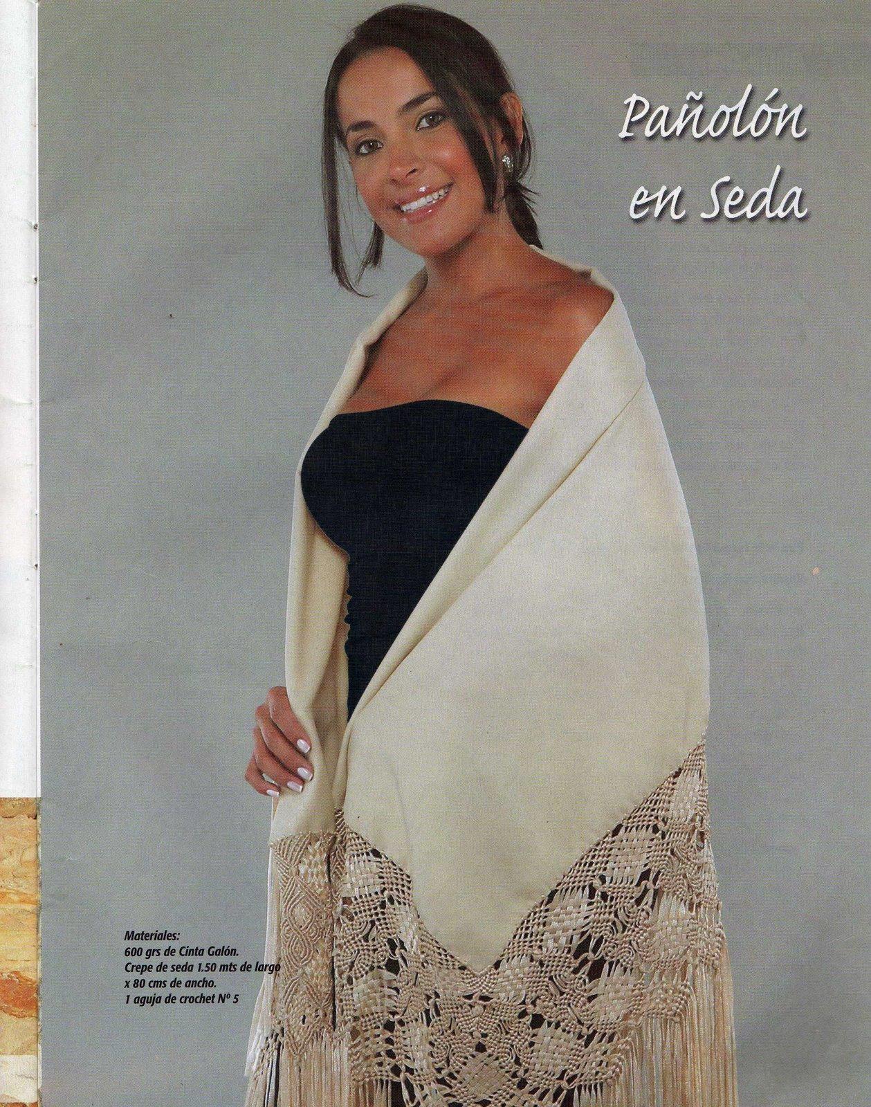 MACRAMÉ: Suéter, chal, vestido, chaleco, bufanda de seda ...