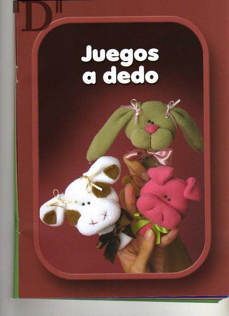Mu ecos y juguetes ratoncito remol n mu ecos para jugar con los dedos cerdita angel - Munecos para casa de munecas ...
