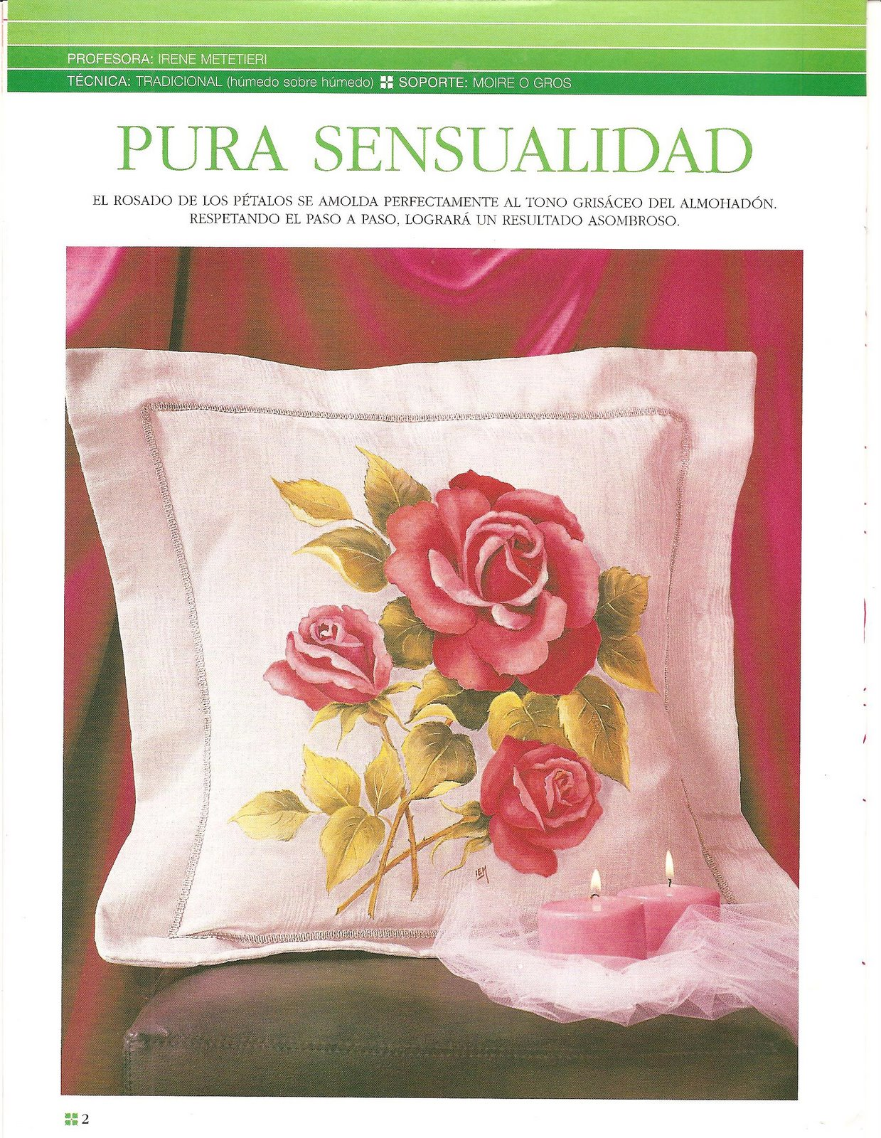 Pintura sobre tela rosas variasmanualidades 39 s blog - Pinturas para pintar tela ...