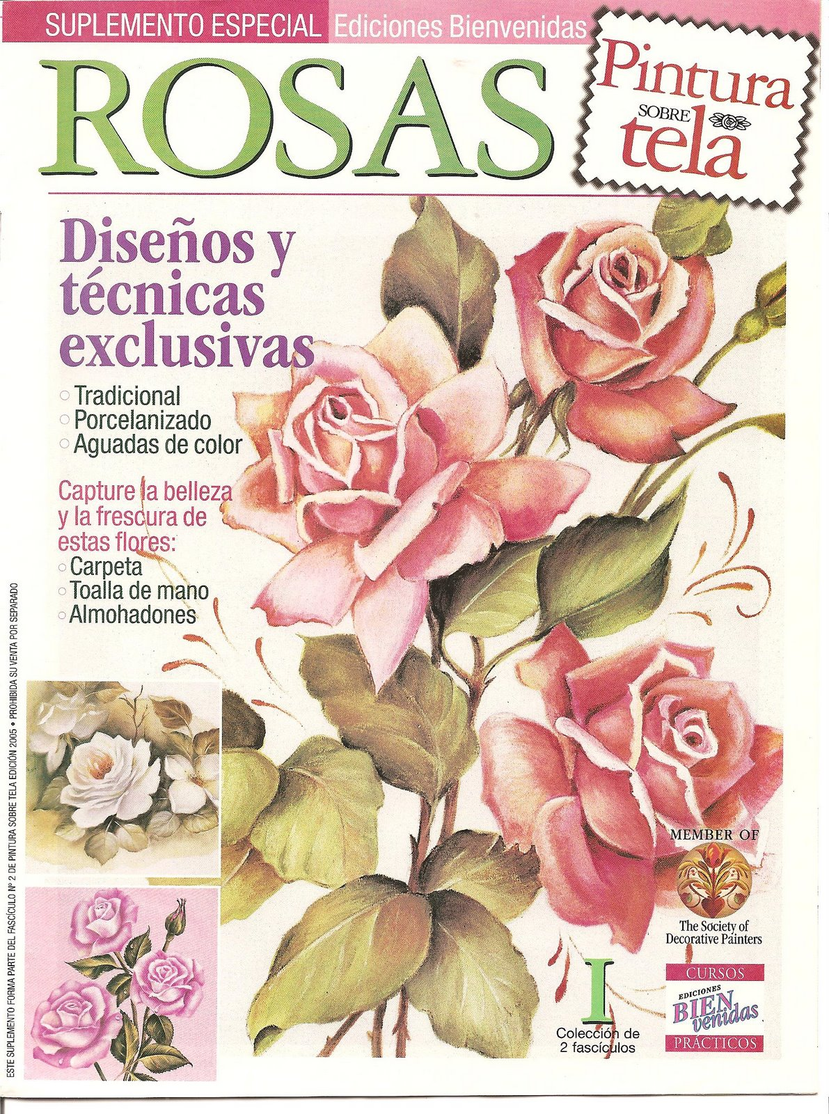 PINTURA SOBRE TELA Rosas  Variasmanualidadess Blog