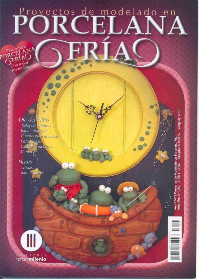 PORCELANA FR  A  D  A Del Ni  O  Reloj Con Ranitas  Cuadro Para El