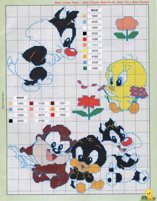 PUNTO DE CRUZ: Baby Looney Tunes « Variasmanualidades\'s Blog
