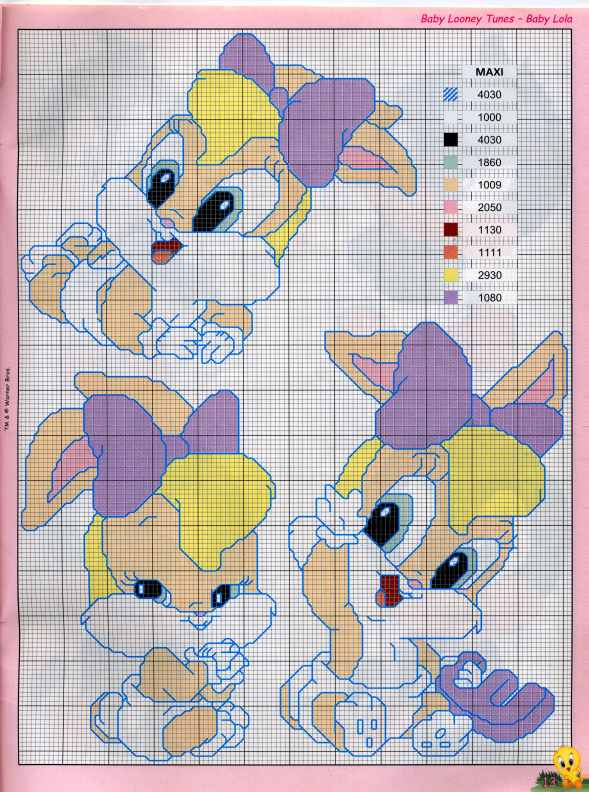 PUNTO DE CRUZ  Baby Looney Tunes    12
