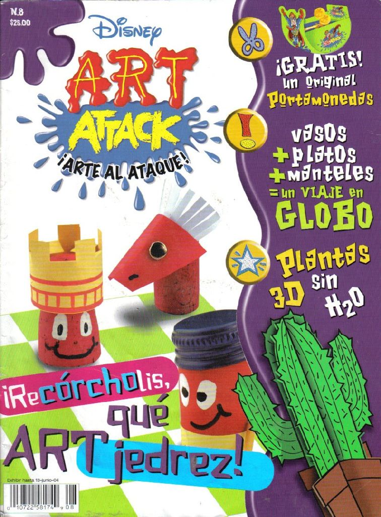 Art attack plantas en 3d un original ajedrez arte tropical variasmanualidades 39 s blog - Manualidades art attack ...