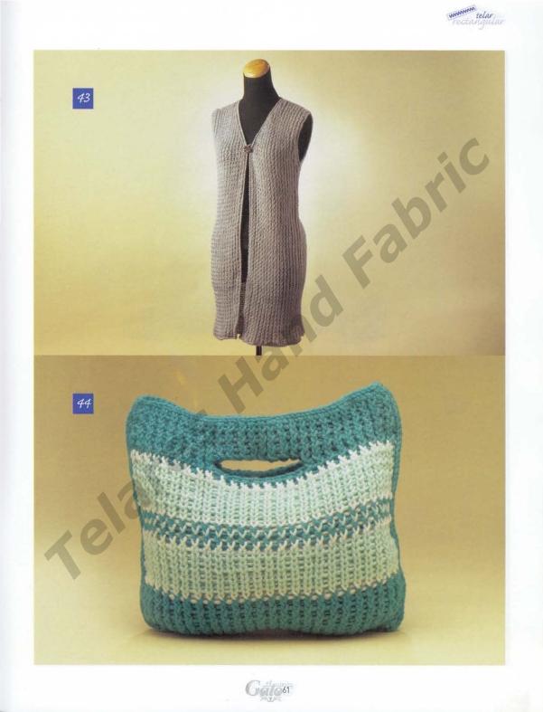 TELAR RECTANGULAR: Chalecos, bufandas, bolsos, patucos, cojines ...
