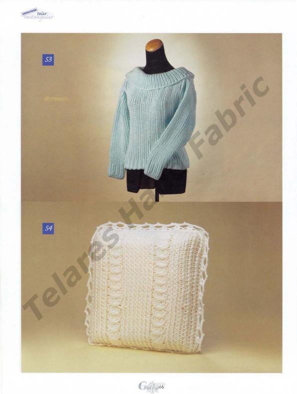 TELAR RECTANGULAR: Chalecos, bufandas, bolsos, patucos, cojines