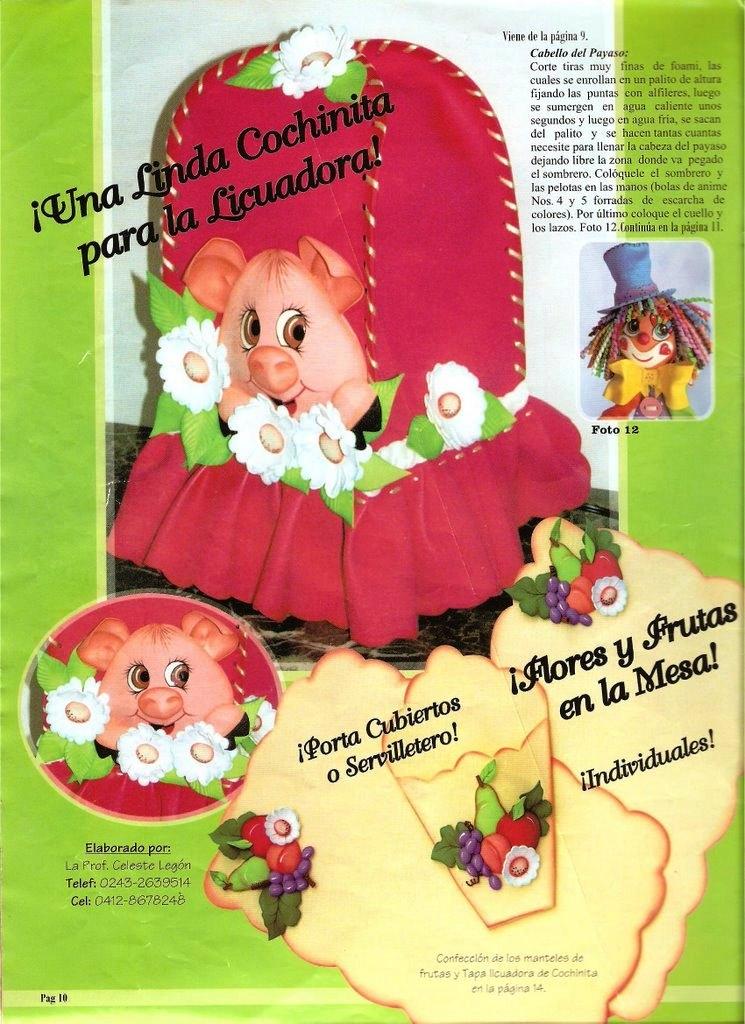 Set De Baño En Goma Eva:Para descargar la revista con los moldes, picar aquí: