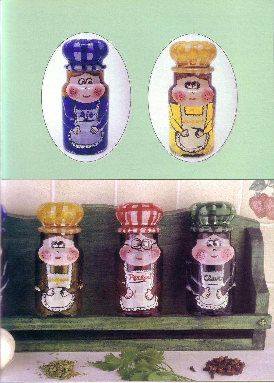 Pintura Sobre Vidrio Decora Unos Especieros Para Tú Cocina