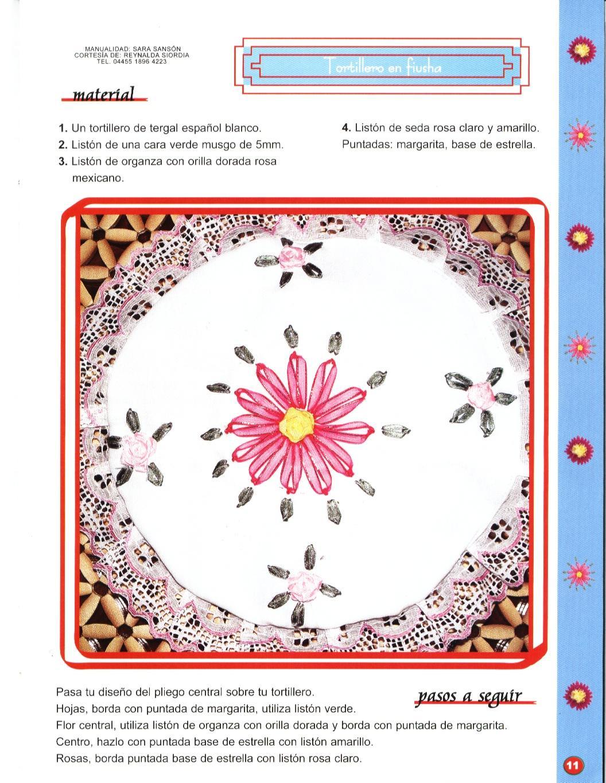 Juegos De Baño Bordados En Cinta:BORDADO EN CINTAS: Manteles individuales, cestas para el pan, juegos