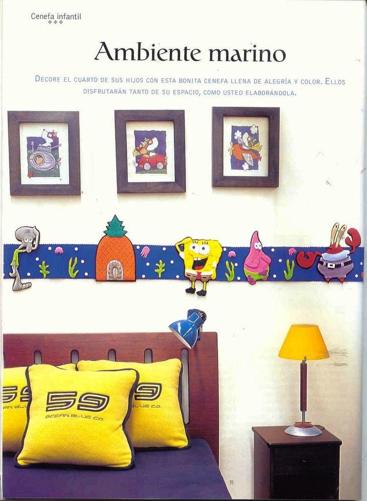 comedor y la sala, cuadros y cenefas para renovar la casa, muñecos en ...