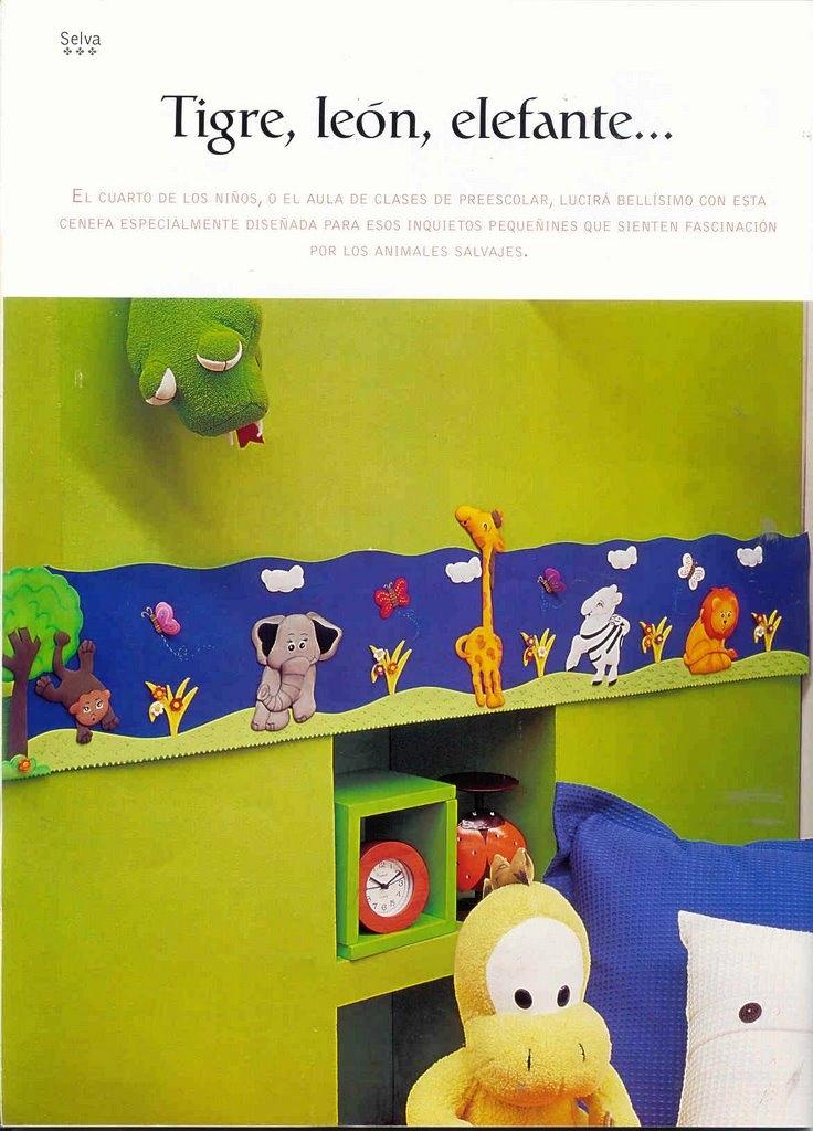 Foamy elegantes opciones para decorar el comedor y la - Cenefas de papel infantiles ...