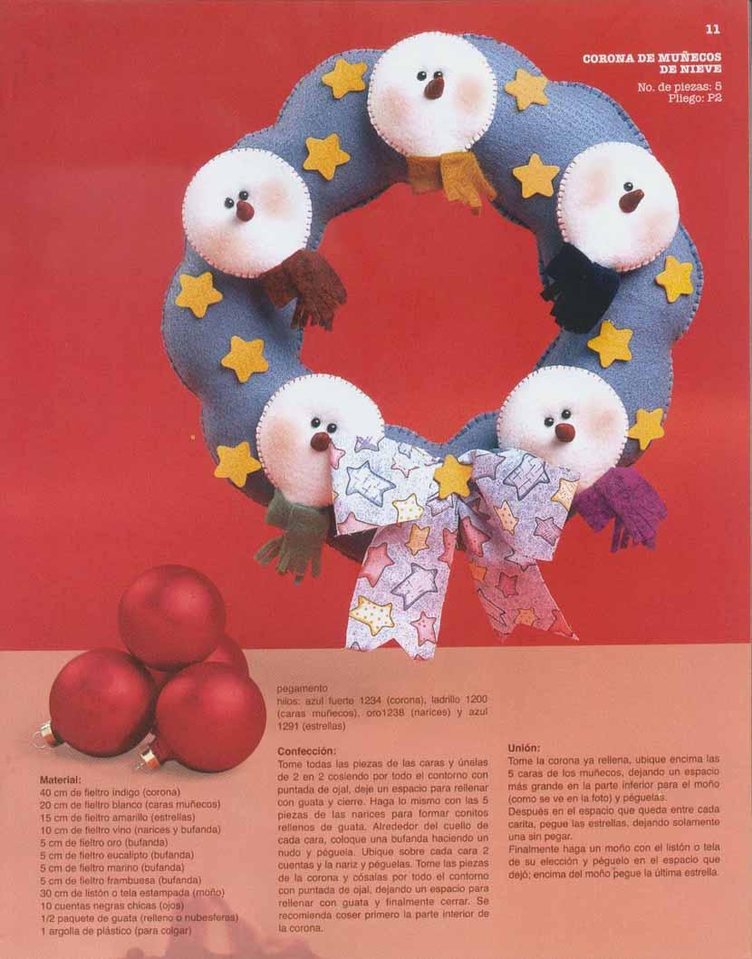 Fieltro 29 atractivas figuras para todo el a o - Figuras de fieltro para navidad ...