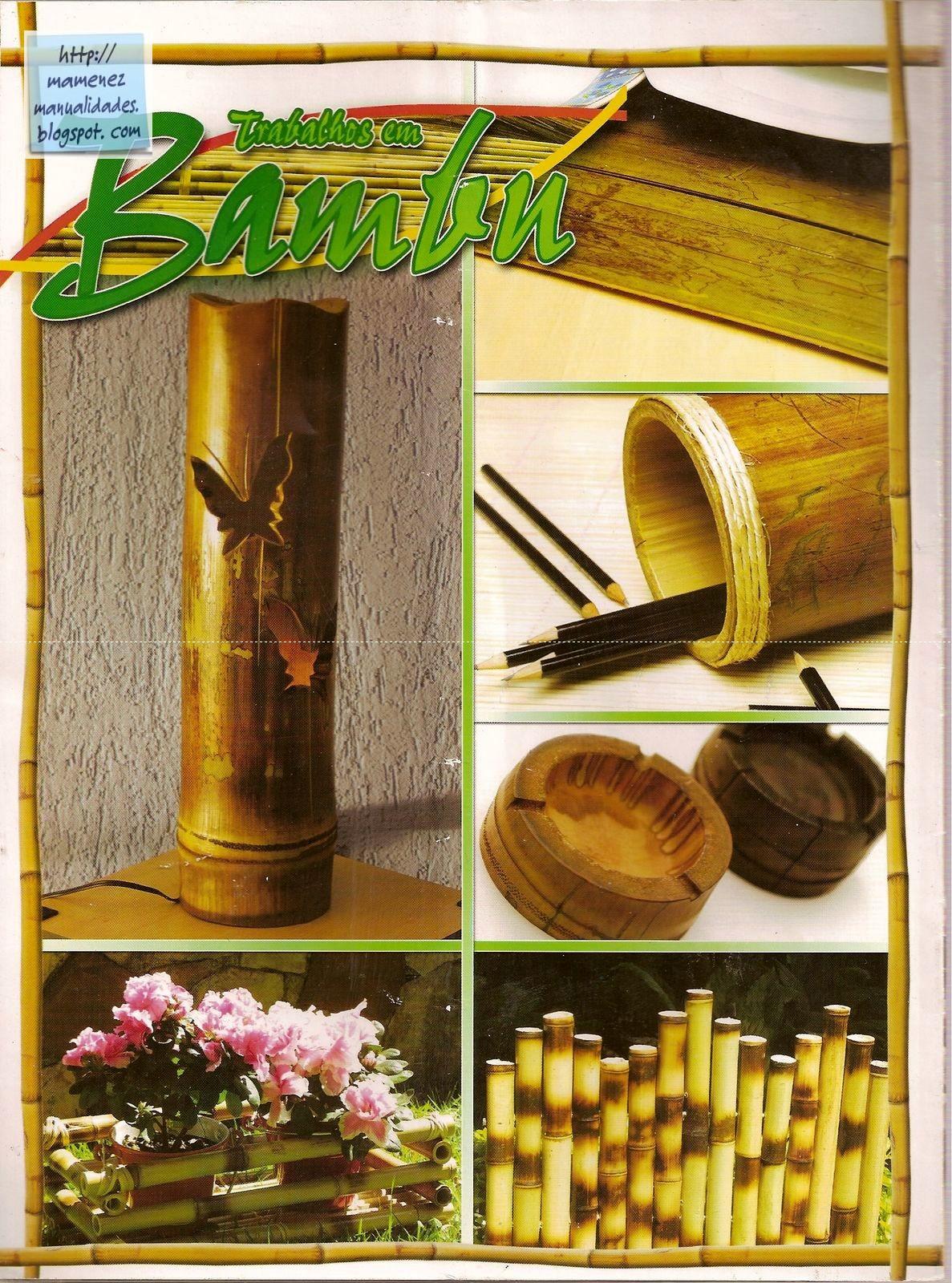 Manualidades con fibras naturales bamb ceniceros - Jardineras con bambu ...